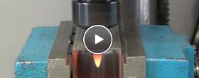 热熔钻加工视频