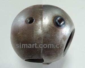 如何在球形工件上使用热熔钻加工